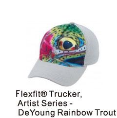 flexfittruckerartistseriesdeyoungrainbowtrout